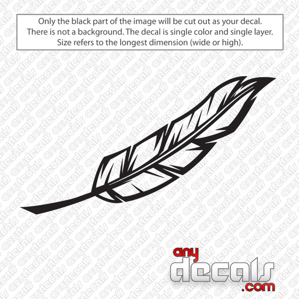 Feather Decal Sticker