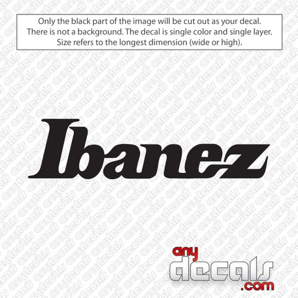 Ibanez Guitars Logo Decal