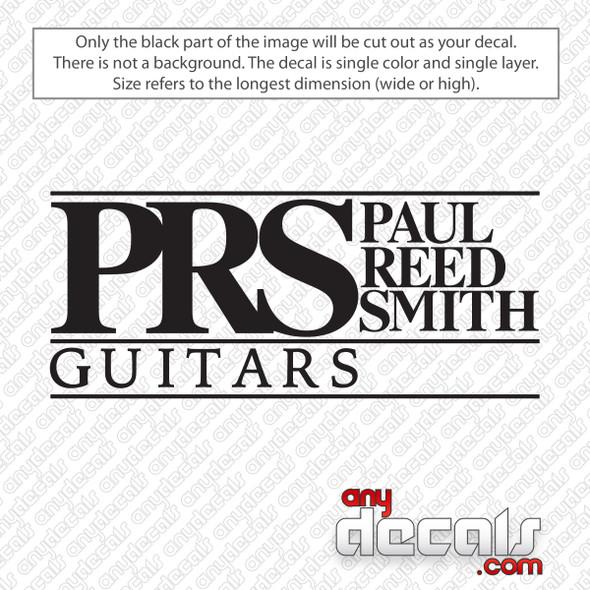 PRS Guitars Logo Decal Sticker