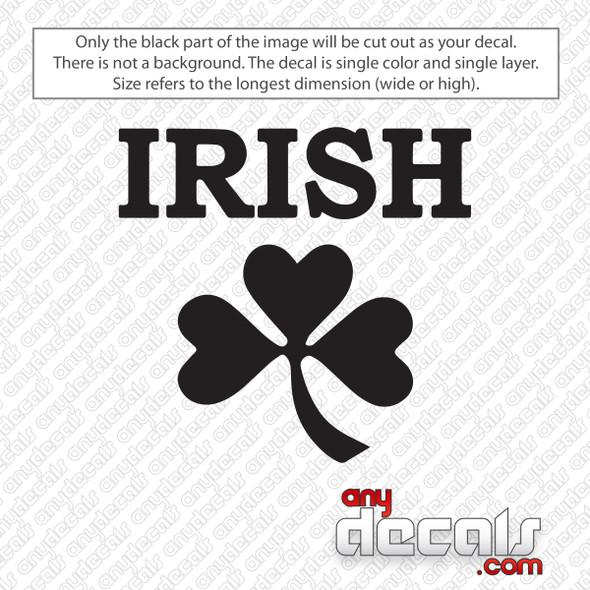 Irish Clover Decal Sticker