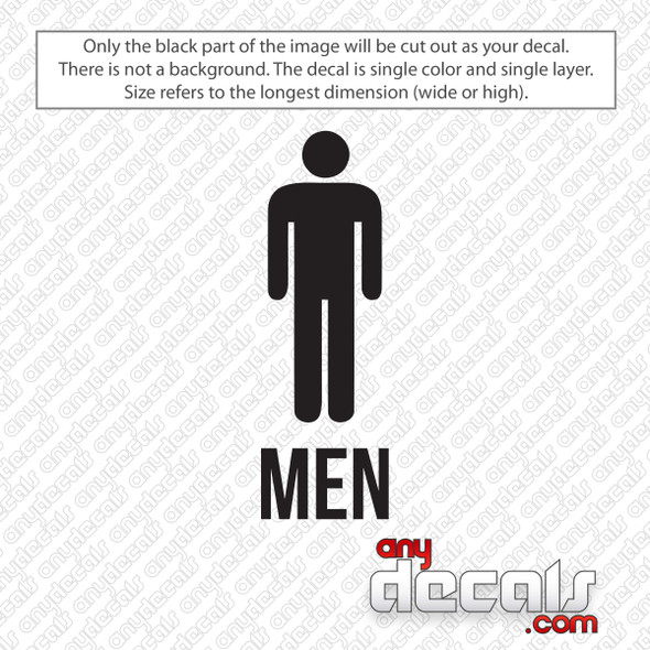 Mens Restroom Decal Sticker
