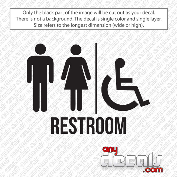 Restroom Business Decal Sticker