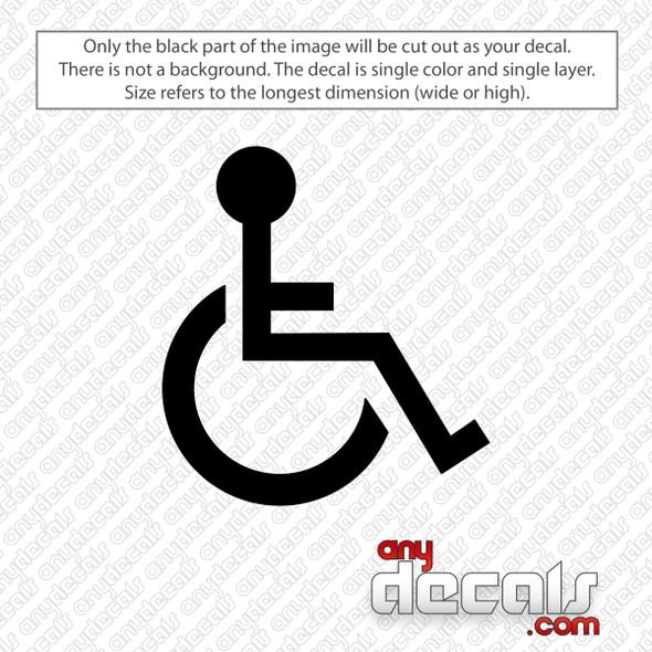 Handicap Emblem Decal Sticker