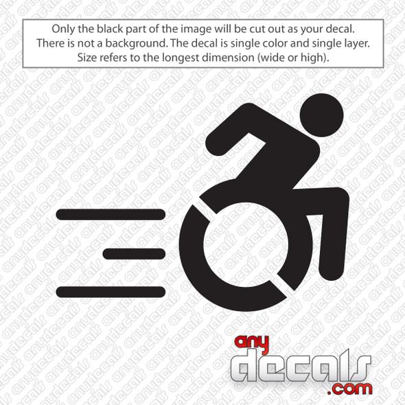 Handicap Wheelchair Racing Decal Sticker
