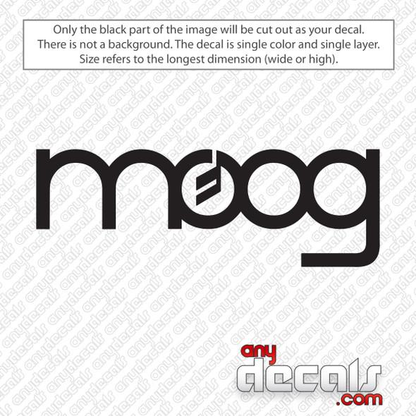 Moog Logo Decal Sticker