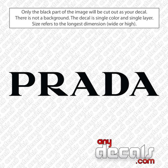 Prada Logo Decal Sticker