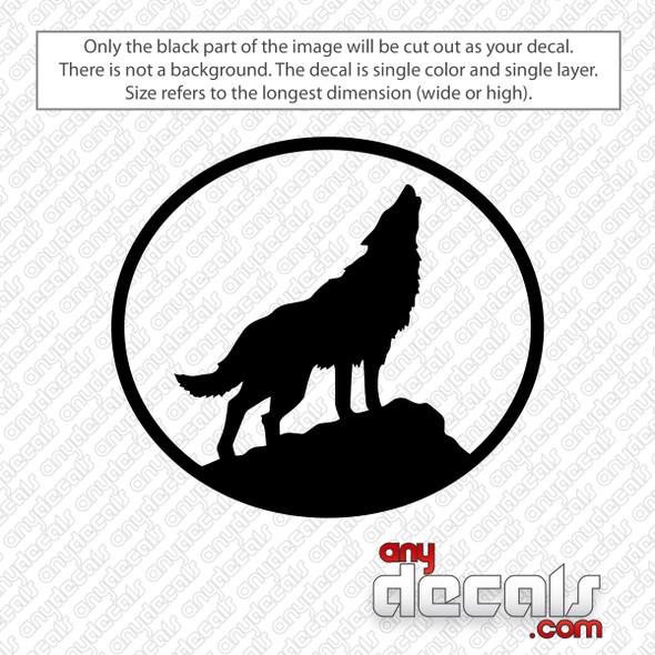 Wolf Howling Decal Sticker