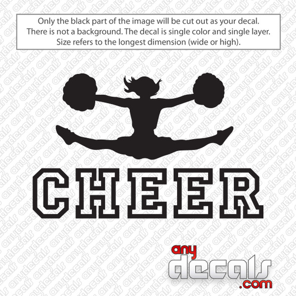 Cheerleader Toetouch Cheer Decal Sticker