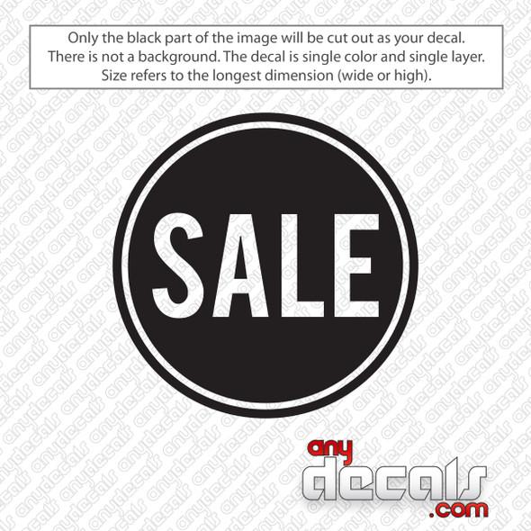 Sale Circle Bold Decal Sticker