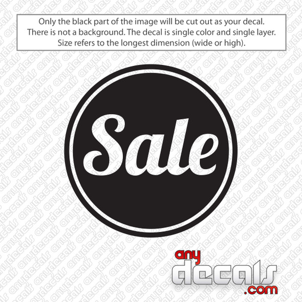 Sale Circle Decal Sticker