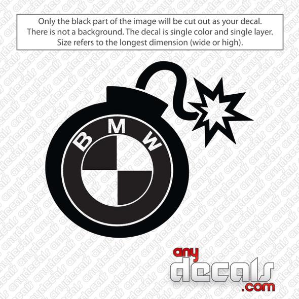 BMW Bomb Decal Sticker
