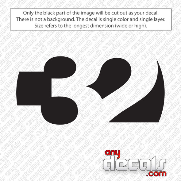 ThirtyTwo Logo 32 Decal Sticker