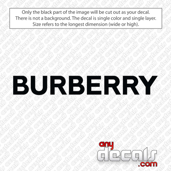 Burberry Logo Decal Sticker