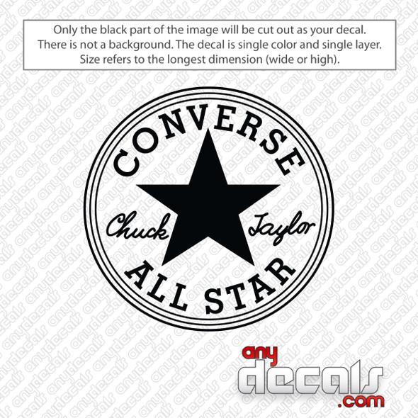 Converse All Star Chuck Taylor Logo Decal Sticker