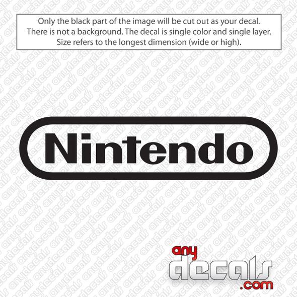 Nintendo Logo Decal Sticker