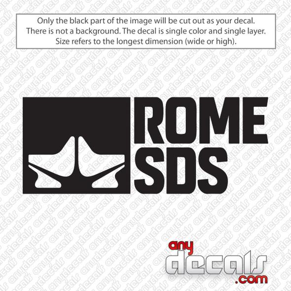 Rome SDS Logo Decal Sticker