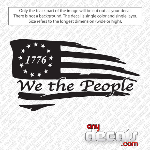 1776 American Flag We The People Decal Sticker