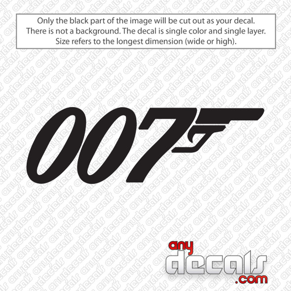 007 James Bond Decal Sticker