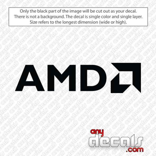 AMD Logo Decal Sticker