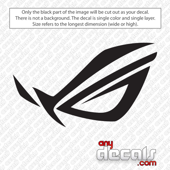 Asus Republic of Gamers Decal Sticker