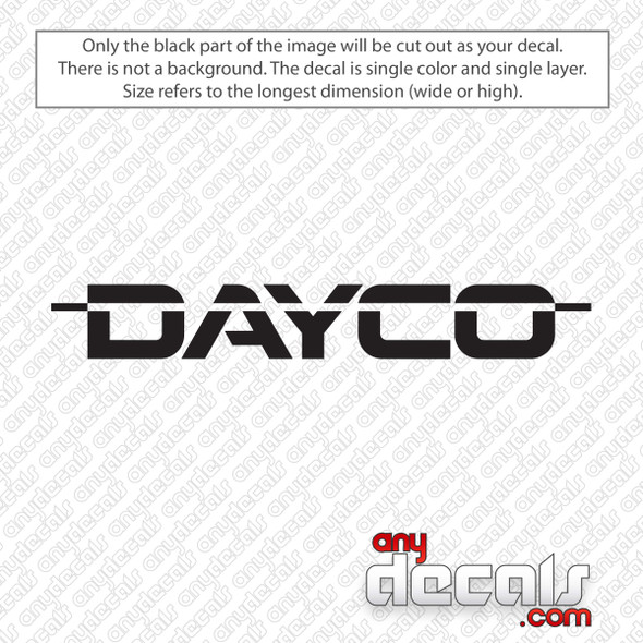 Dayco Logo Decal Sticker