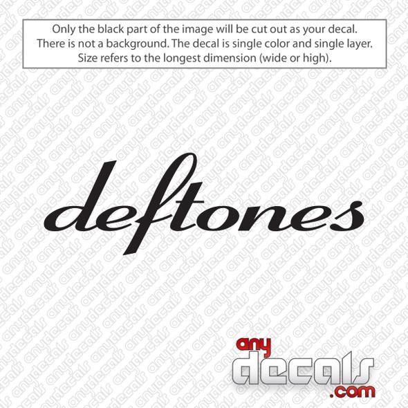 Deftones Band Logo Decal Sticker