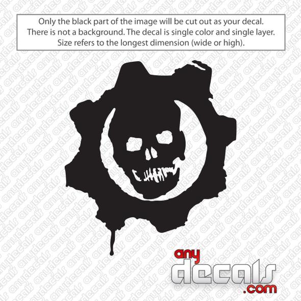 Gears of War Symbol Decal Sticker