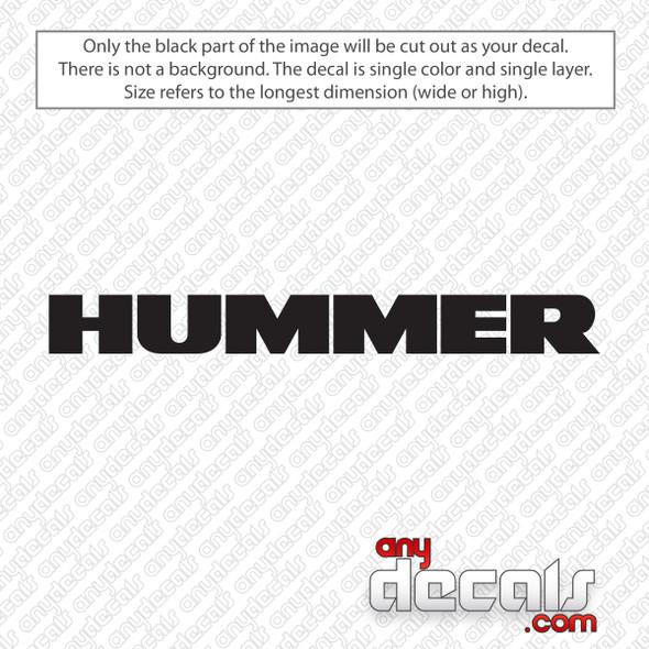 Hummer Logo Decal Sticker