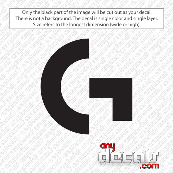 Logitech G Gaming Symbol Decal Sticker