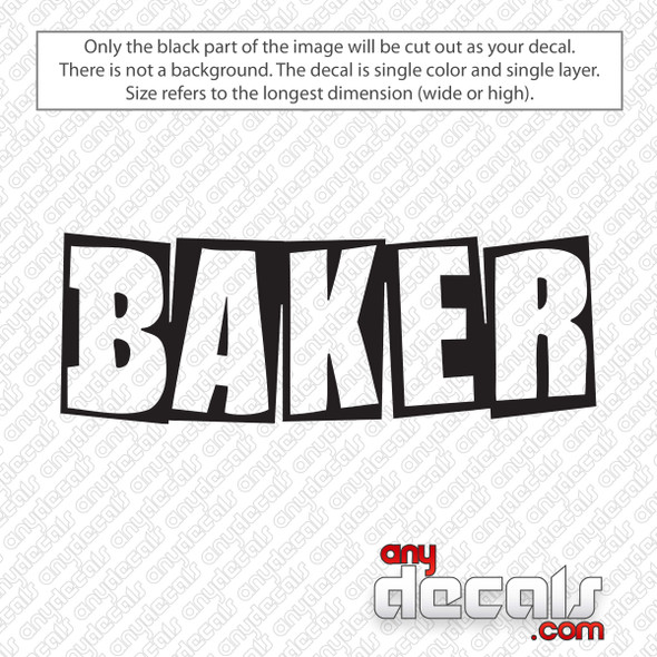 Baker Skateboards Logo Decal Sticker