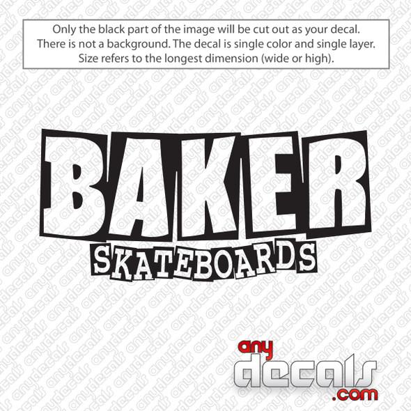Baker Skateboard Decal Sticker