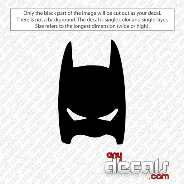 Batman Mask Decal Sticker