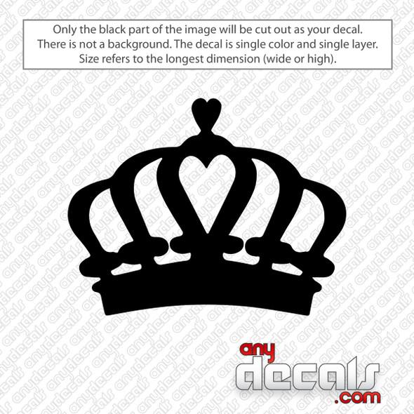 Crown Decal Sticker