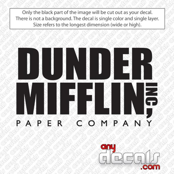 Dunder Mifflin Paper Company Decal Sticker
