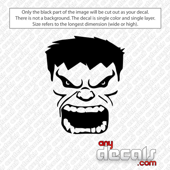 Hulk Face Decal Sticker