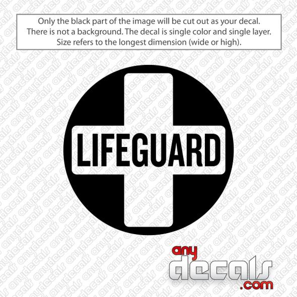 Lifeguard Circle Decal Sticker