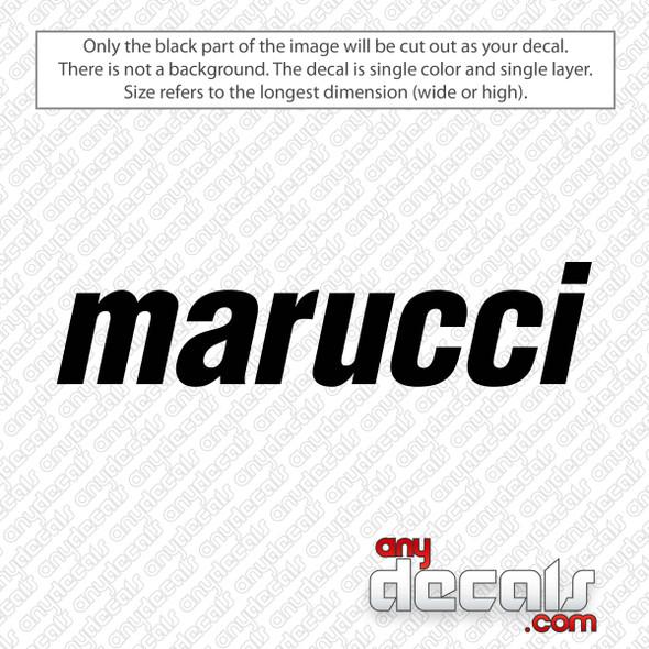 Marucci Logo Decal Sticker