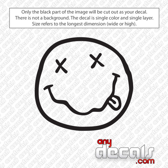 Nirvana Smiley Face Decal Sticker