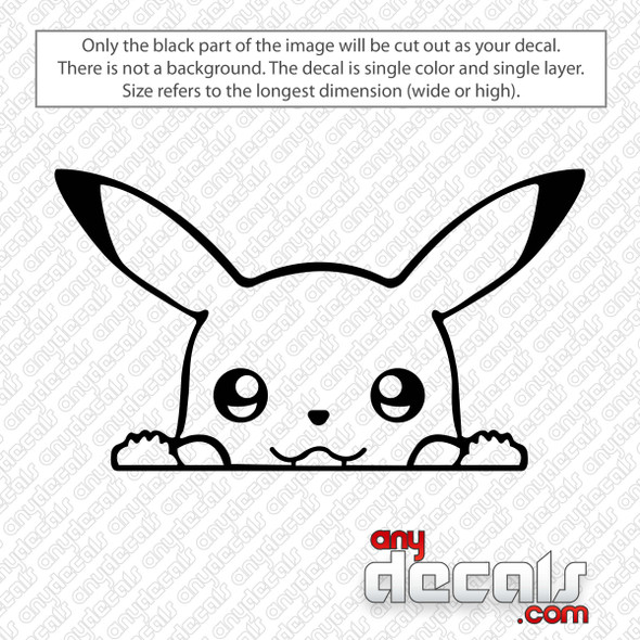 Pikachu Peeking Decal Sticker