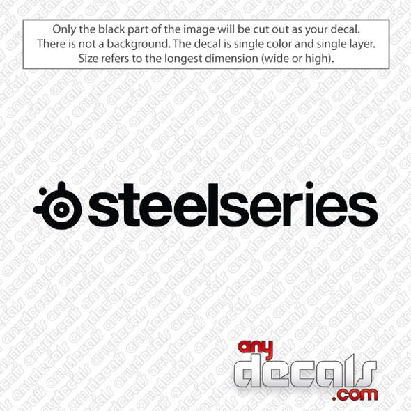 SteelSeries Logo Decal Sticker
