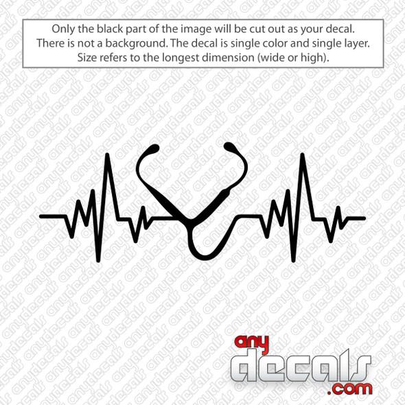 Stethoscope Heartbeat Decal Sticker