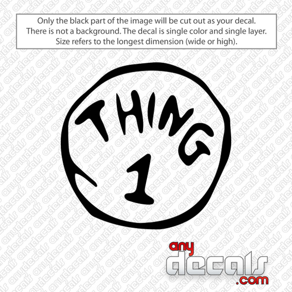 Thing 1 Dr. Seuss Decal Sticker