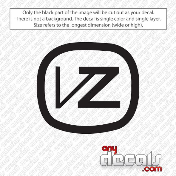 Von Zipper Emblem Decal Sticker