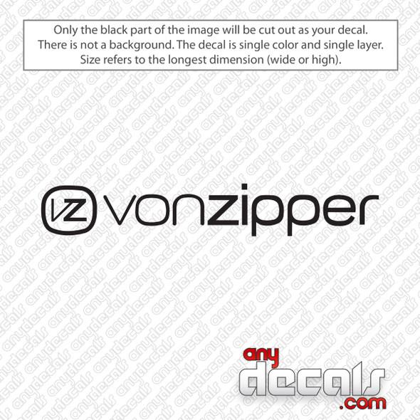 Von Zipper Logo Decal Sticker