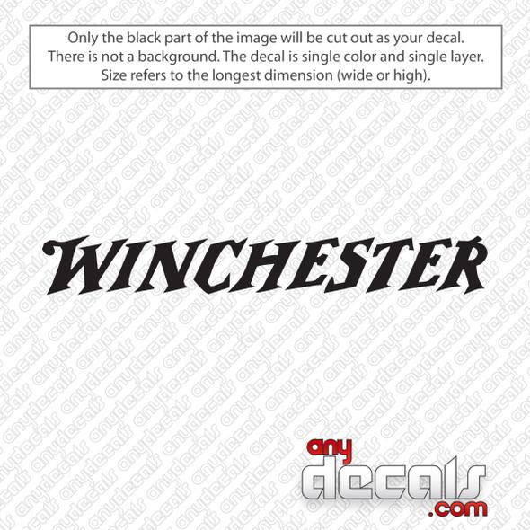 Winchester Logo Decal Sticker