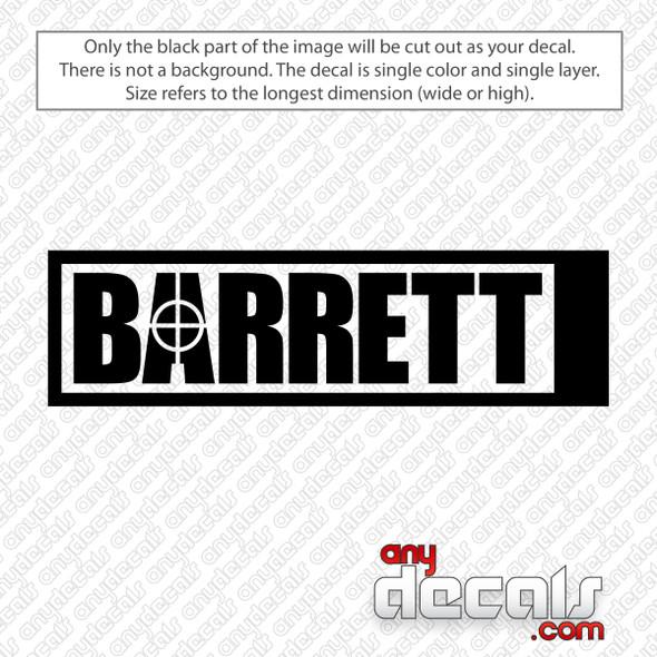Barrett Firearms Logo Decal Sticker