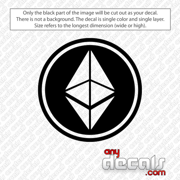 Ethereum Circle Logo Decal Sticker