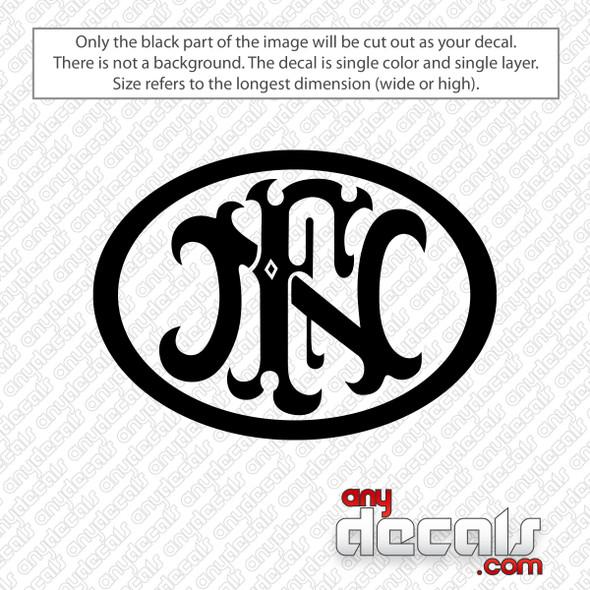 FN Firearms Logo Decal Sticker