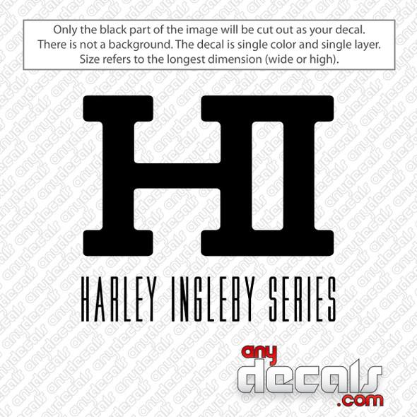 Harley Ingleby Series Logo Decal Sticker
