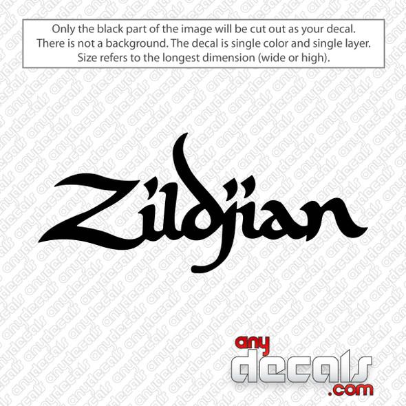 Zildjian Logo Decal Sticker